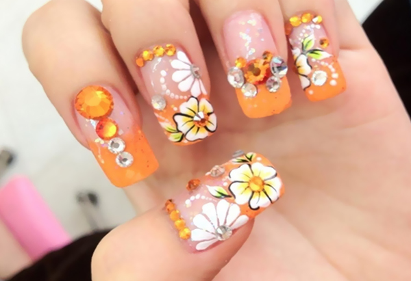 10 Stunning Rhinestone Nail Art Designs To Try Out